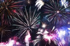 Colorful Fireworks Celebration. Fireworks Background Royalty Free Stock Photos