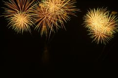 Colorful fireworks celebration. royalty free stock images