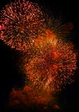 Colorful fireworks on dark night sky background. Holiday light. Colorful fireworks on dark night sky background. Holiday light Stock Photography
