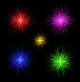 Colorful fireworks for design Stock Photos
