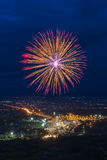 Colorful fireworks display at Chiangmai Stock Image