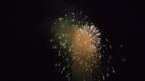 Colorful fireworks display stock footage