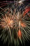 Colorful Fireworks Display Full Frame Background. Colorful fireworks display, full frame background, vertical stock photography
