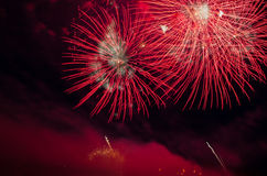 Colorful fireworks display at night Royalty Free Stock Image