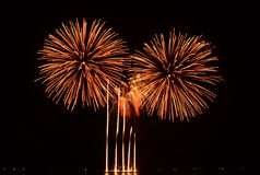 Colorful fireworks display. Fireworks display at the 5th Philippine International Pyromusical Competition in Pasay City, Philippines Stock Photo