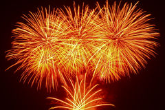 Colorful fireworks display Royalty Free Stock Photos