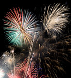 Colorful fireworks Royalty Free Stock Image
