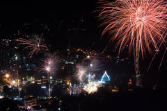 The colorful fireworks festival 2014 Royalty Free Stock Photo