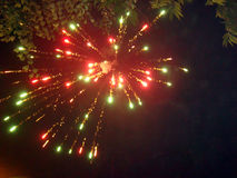 Colorful fireworks. Going high in the sky Royalty Free Stock Photo