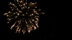 Colorful fireworks with heart in final at the black BG stock video
