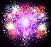 Colorful fireworks. Illustration of Colorful fireworks background Royalty Free Stock Images