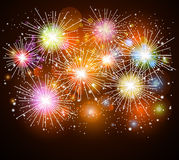 Colorful fireworks. Illustration of Colorful fireworks background Stock Image