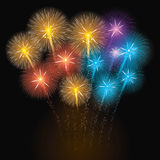 Colorful Fireworks Illustration. Vector illustration of fireworks. Eps10 Stock Photo