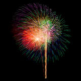 Colorful fireworks isolated Royalty Free Stock Image