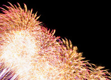 Colorful fireworks  with multiple bursts  against dark sky. Colorful fireworks with multiple bursts against dark sky Royalty Free Stock Image