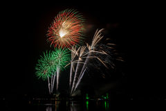 Colorful Fireworks of multiples colors Royalty Free Stock Photos