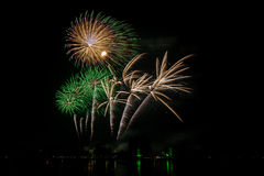 Colorful Fireworks of multiples colors Stock Photography