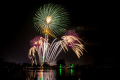 Colorful Fireworks of multiples colors Royalty Free Stock Images