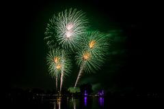 Colorful Fireworks of multiples colors Stock Images