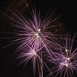 Colorful fireworks at night. Stock Images