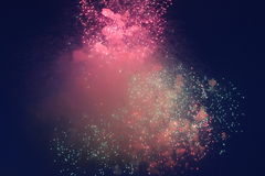 Colorful fireworks. Fireworks colorful on night sky Stock Images