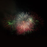 Colorful fireworks Stock Photos