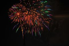 Colorful Fireworks in Night Sky Royalty Free Stock Photos
