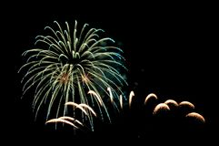 Colorful Fireworks in Night Sky royalty free stock images
