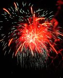 Colorful Fireworks in Night Sky stock photos