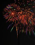Colorful Fireworks in Night Sky Royalty Free Stock Image