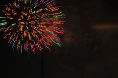 Colorful Fireworks in Night Sky Stock Image