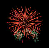 Colorful fireworks in the night sky Royalty Free Stock Images