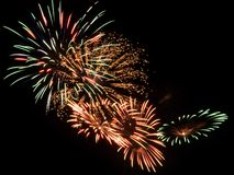 Colorful fireworks in the night sky Stock Image