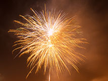 Colorful fireworks in the night sky. Happy new year celebration abstrackt background Stock Image