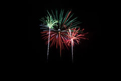 Colorful fireworks over dark sky. Beautiful Colorful fireworks over dark sky Royalty Free Stock Image