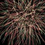 Colorful fireworks over dark sky Royalty Free Stock Image