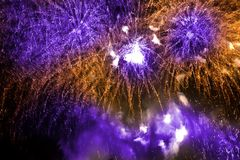 Colorful fireworks over a night sky Stock Photography
