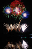 Colorful fireworks over night sky. The colorful fireworks over night sky Stock Image