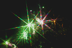 Colorful fireworks over a night sky Stock Images