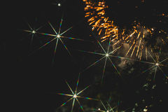 Colorful fireworks over a night sky Stock Image