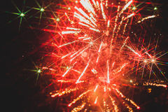 Colorful fireworks over a night sky Royalty Free Stock Photography