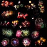 Colorful fireworks  over night sky. Colorful fireworks of various colors over night sky Stock Images