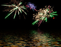 Colorful fireworks. Royalty Free Stock Photos