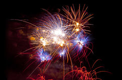 Colorful fireworks at San Juan night Stock Image