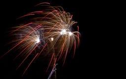 Colorful fireworks at San Juan night Royalty Free Stock Photos