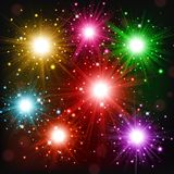 Colorful Fireworks scattered in the sky. Vector illustration of Colorful Fireworks scattered in the sky Stock Photography