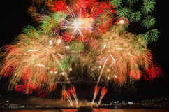 Colorful fireworks in Seoul ,South Korea Stock Images