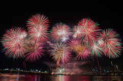 Colorful Fireworks in Seoul,South Korea. Stock Photography