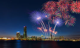 Colorful fireworks in Seoul ,South Korea. Stock Photography