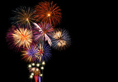Colorful Fireworks Show Stock Photography